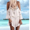 Women Fashion Summer Sexy Straps Crochet Playsuit Beach Jumpsuit Romper Top