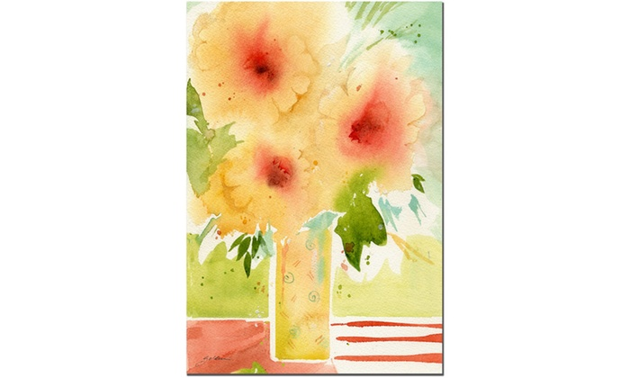 Sheila Golden The Yellow Vase Canvas Art Groupon