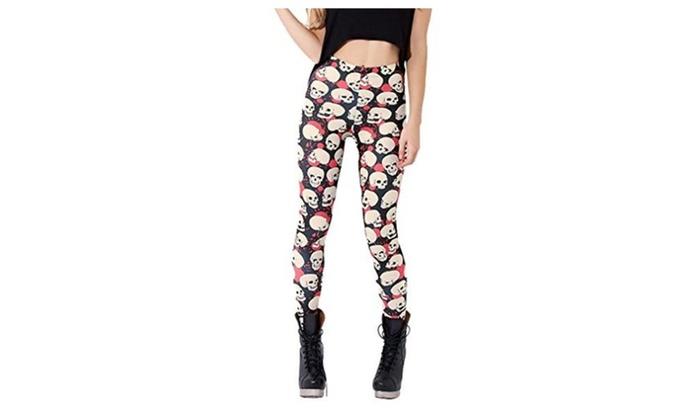 JTC Women's Colored Leggings Pants 10 Patterns - #1 / One Size