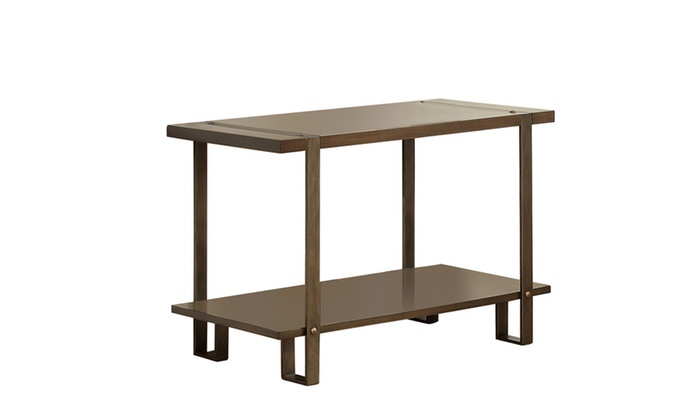 Foyer Table Deals : Theo nail head accent rustic metal entryway table groupon