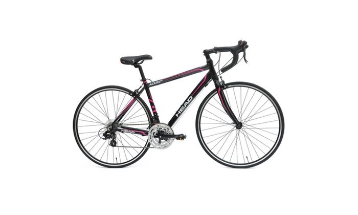 Head Accel NXL Road Bicycle, 700c wheels,  Black/Pink, 47 cm frame