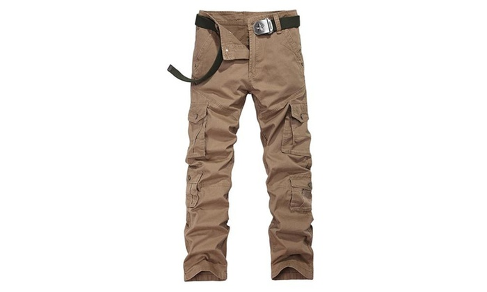 Morestyle Men's Casual Outdoor Work Wear Multi Pockets Cargo Pants