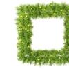 "30"" Lime/Green Tinsel Sq Wreath 50Lime"