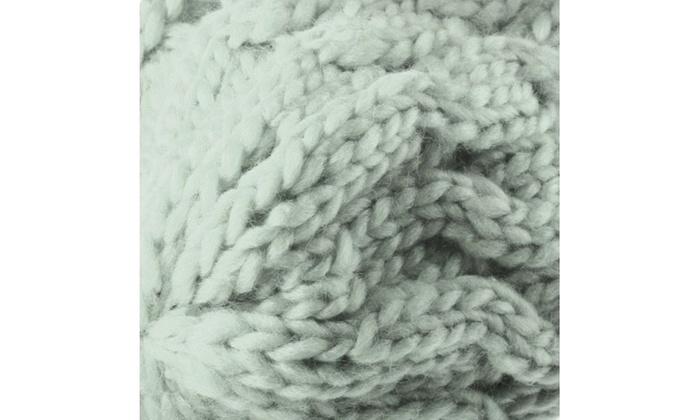 26f0b08a051 ... Zodaca Gray Lady Women Knit Winter Warm Crochet Hat Braided Beanie Cap