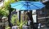Villacera 9' Auto Tilt Outdoor Patio Umbrella with Aluminum Pole