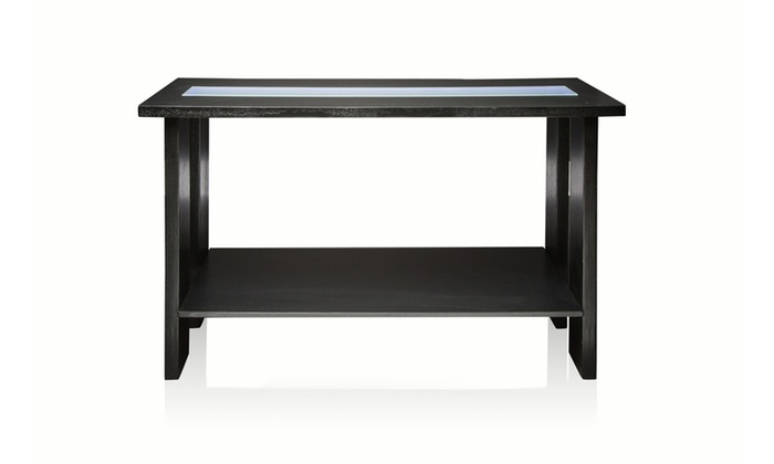 espresso entryway table. Groupon Goods: Cato LED Top Panel Modern Design Espresso Entryway Table I