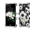 Insten Tuff Soccer Ball Collage Hard Hybrid Case W/stand For Lg K7