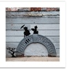Banksy 'NYC Japanese Bridge' Canvas Rolled Art