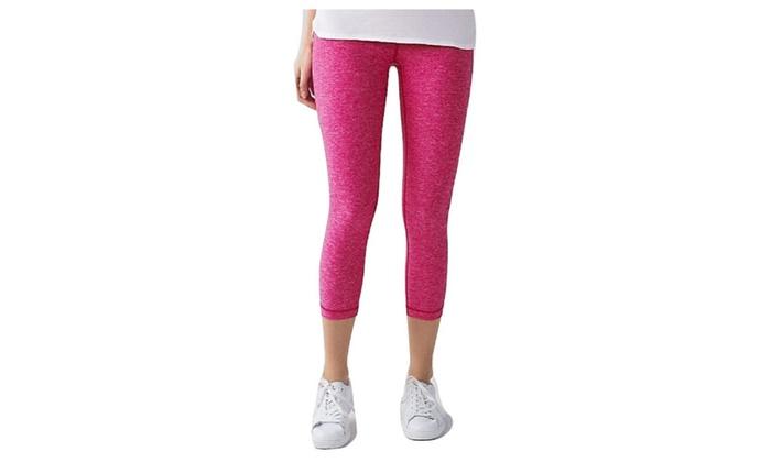 c1d087034 Lululemon Wunder Under Crop Yoga Pants Heathered Jewelled Magenta Pink