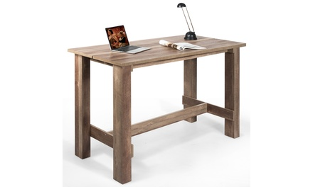 Costway Hollow Design Dining Table Counter Rectangular Kitchen Living Room