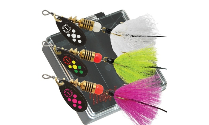 Mepps Trout Pocket Pac - No.1 Black Fury Dressed