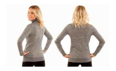 Women's Mélange Turtleneck Sweaters