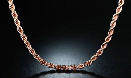 18k Rose Gold Rope Chain Was: $26.49 Now: $2.99.