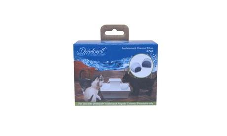 PetSafe Drinkwell Ceramic Charcoal Filters 4 pack White / Gray c1c2a220-3280-4c46-b9f0-ebf5efcc5c2d