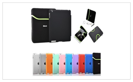 Laza Zip Grip iPad Pouch Sleeve + Smart Cover Compatable Back Cover Combo Case for iPad 2 & iPad 3