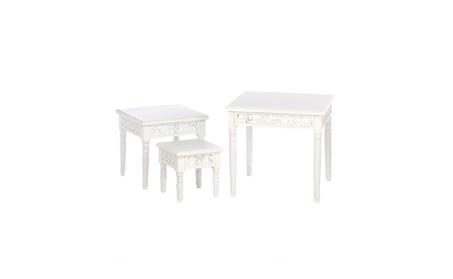 Koehler Home Decor Floret Nesting Accent Tables Trio 795c89a0-f4e3-41a9-8b33-95c149e3c757