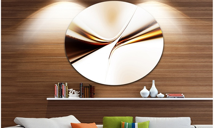 Up To 23% Off on Dynamic Golden Waves\' Abstrac... | Groupon Goods