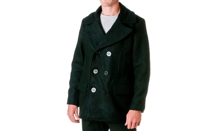 6a5a71350f7f Jordan Craig Mens Wool Blend Peacoat 90800