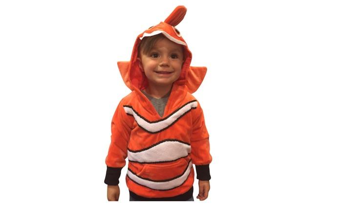 sc 1 st  Groupon & Halloween Costumes Kids Nemo Costume Clownfish Hoodie Boys Costume ...