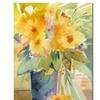 Sheila Golden Yellow Canvas Print