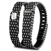 Zodaca TPU Large  Activity Tracker Clasp for Fitbit  Black Polka dot