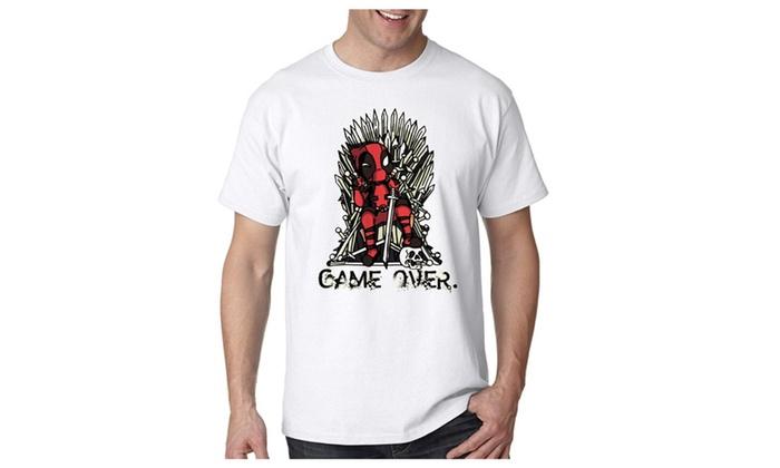Deadpool vs Game of Thrones Customa for Mens T shirt