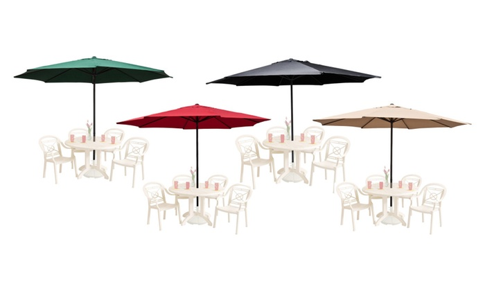 Apontus Giant 13u0027 Feet Large Market Patio Umbrella ...