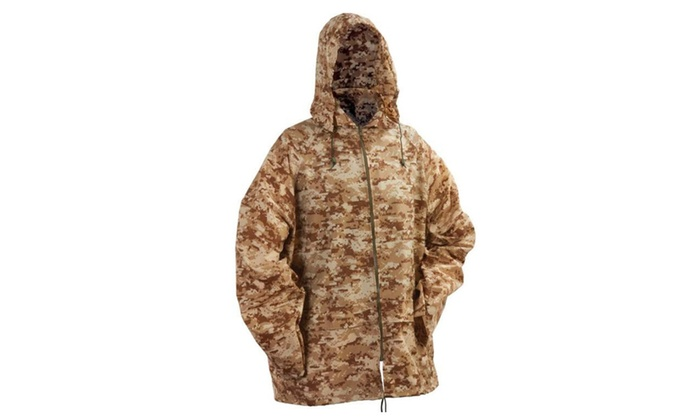Hunting/Camping Digital Camo Rain Jacket W/ Carrying Pouch
