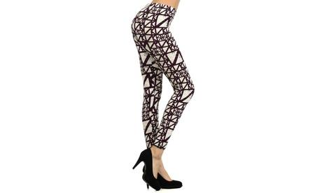 Lady's STELLA ELYSE Purple Scaffold Printed Legging ac3b8c0e-9de9-4873-8b58-82074dfd672c