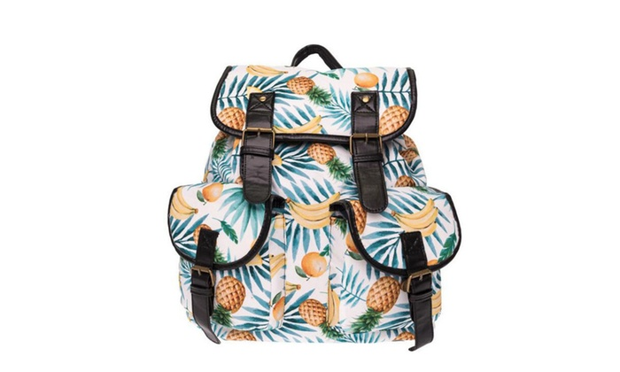 2f45d42f6 Vintage Canvas Pineapple Backpack Casual School Bag Daypack for Women