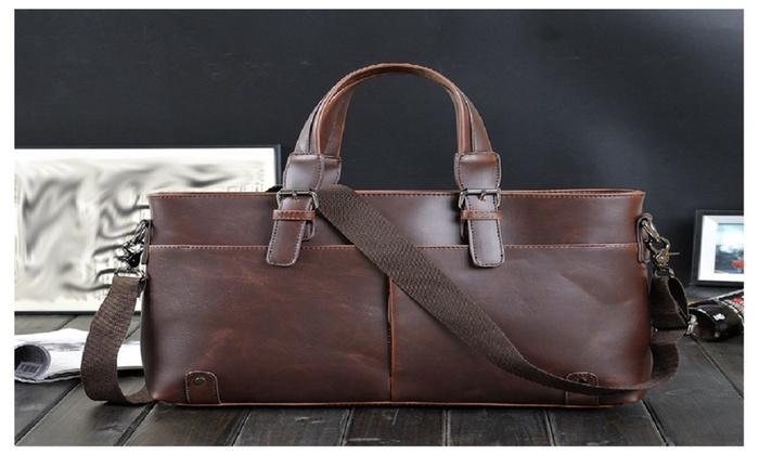 Men Handbag Retro Shoulder Bag Totes Rawhide Business Computer