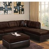 Cherkasy Sectional With Matching Ottoman And Pillows In Chocolate
