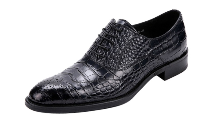 Men's Leather Pointed Wing Oxford