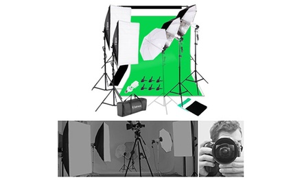 45W Adjustable Softbox Umbrella Backdrop Stand Photography Lighting Kit Was: $170.99 Now: $98.99