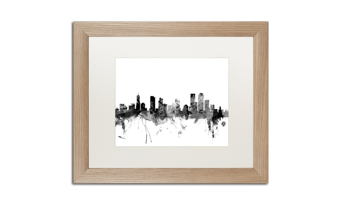 Michael tompsett 39 denver colorado skyline b w 39 birch for Michaels craft store denver