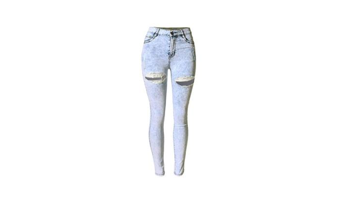 Women's Mid Rise Simple Long Fashion Jeans