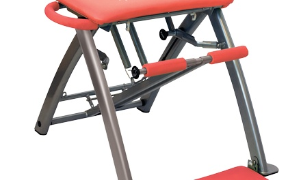 Pilates PRO Chair with 4 Workout DVDs by Life's A Beach (Refurbished) Was: $220 Now: $64.95.