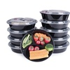 12 Piece 3 Compartment Reusable Food Storage Containers Meal Prep