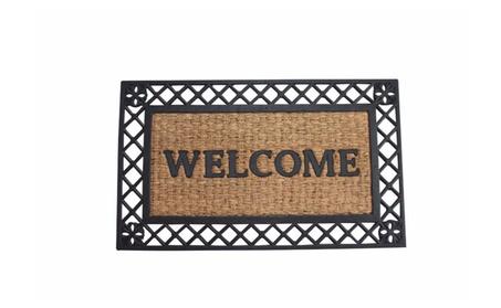 Summerfield Terrace Outdoor Decor Bold Border Welcome Mat 4b1403cb-5760-4574-a5d5-35e9be846326