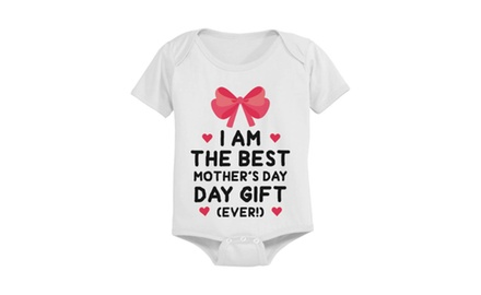 Cute Pre-shrunk Cotton Snap-on Style Baby Bodysuit - The Best Mother's Day Gift