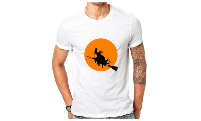 Witch On The Broom Halloween T-shirt