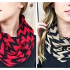 Chevron Knit Infinity Scarf-4 Colors