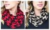 Riah Fashion: Chevron Knit Infinity Scarf-4 Colors