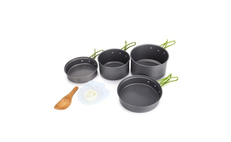 Outdoor Camping Cooking Bowl Pot Pan Set 10 Pieces 7da7c3ed-6f0d-434d-87a9-fd774ce932f2