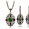 Metal Chain Pendant Resin Necklace Earrings Jewelry Sets