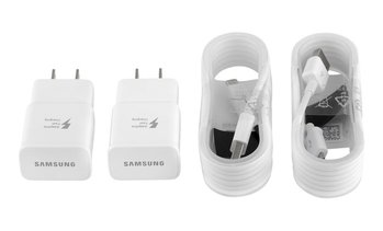Samsung Fast Adaptive Charger Original 2 Pack with 2 Micro USB OR Type-C Cables