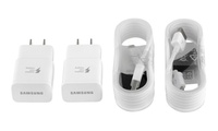 2-Pack Samsung Fast Adaptive Charger with 2 Micro USB OR Type-C Cables