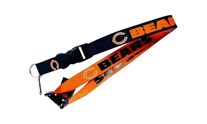 Chicago Bears Clip Lanyard Keychain Id Holder Ticket - Blue