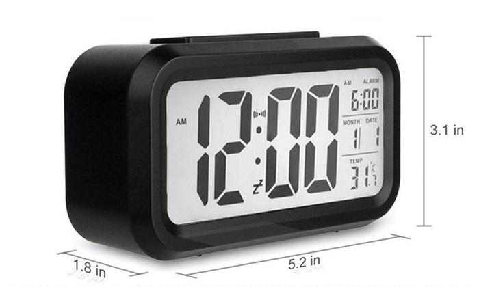 Extral Large Display Battery Operated Snooze Digital Alarm Clock Calendar
