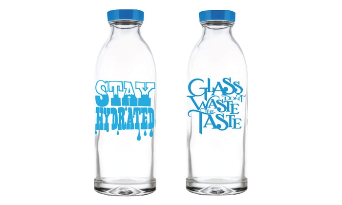 Summer Special Value Pack - Glass Water Bottles by Faucet Face, 14 oz.